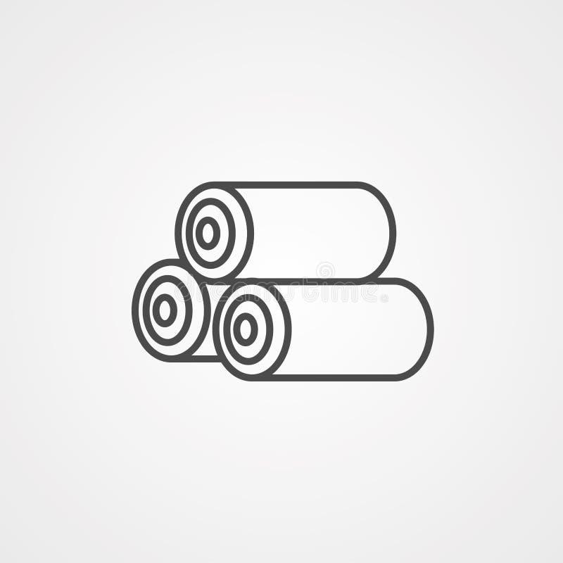 日志传染媒介象标志标志 向量例证