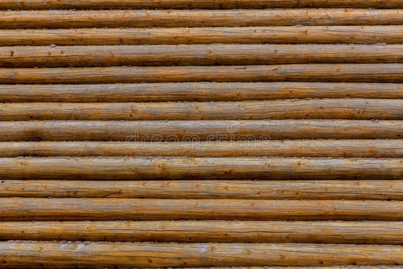日志墙壁 背景记录木 木纹理 库存照片
