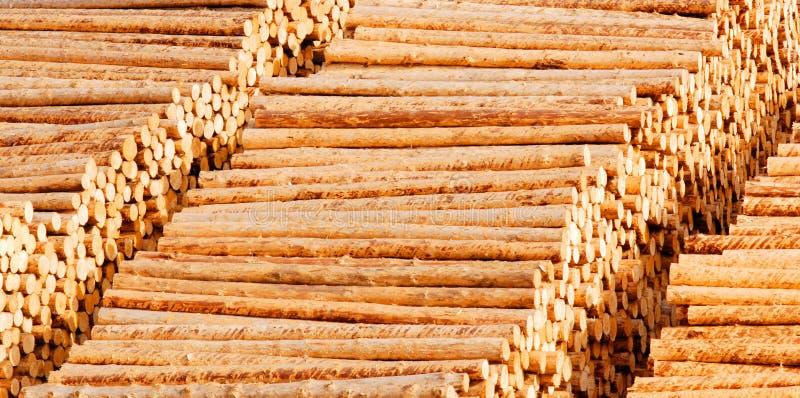 日志用木材建造木 库存照片