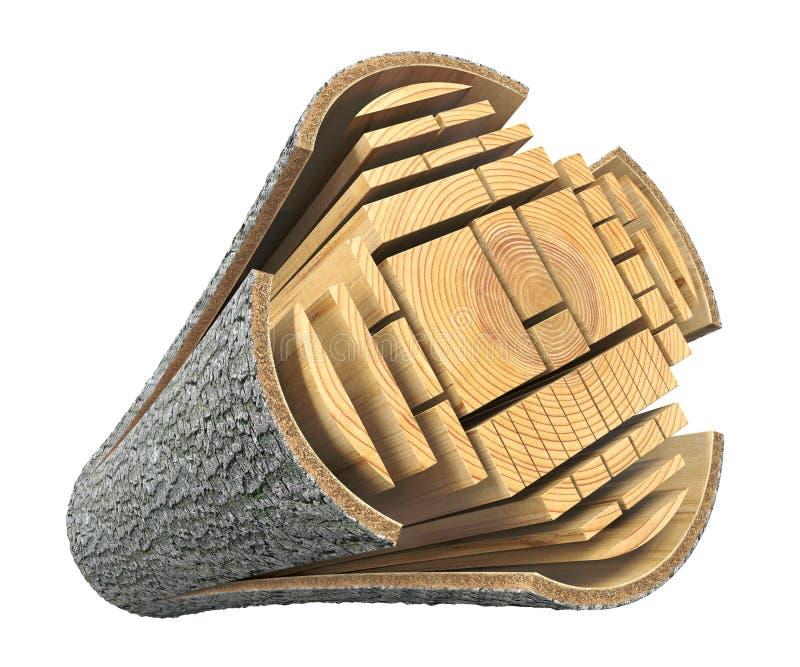 从日志的木材 向量例证