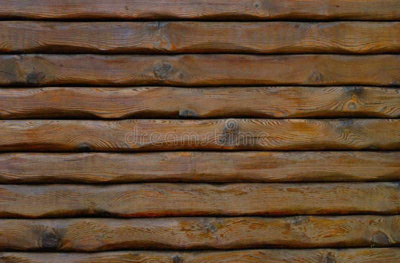 日志自然墙壁 免版税库存照片
