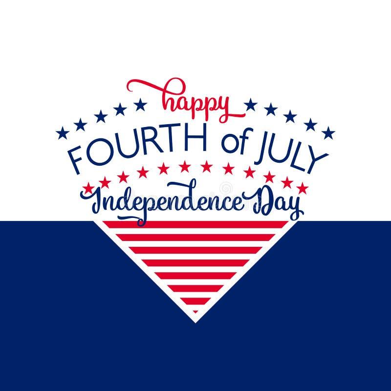 Download 日愉快的独立 7月4日 第四 传染媒介-纪念品 标志 爱国庆祝 向量例证 - 插画 包括有 生日, 问候: 72370202
