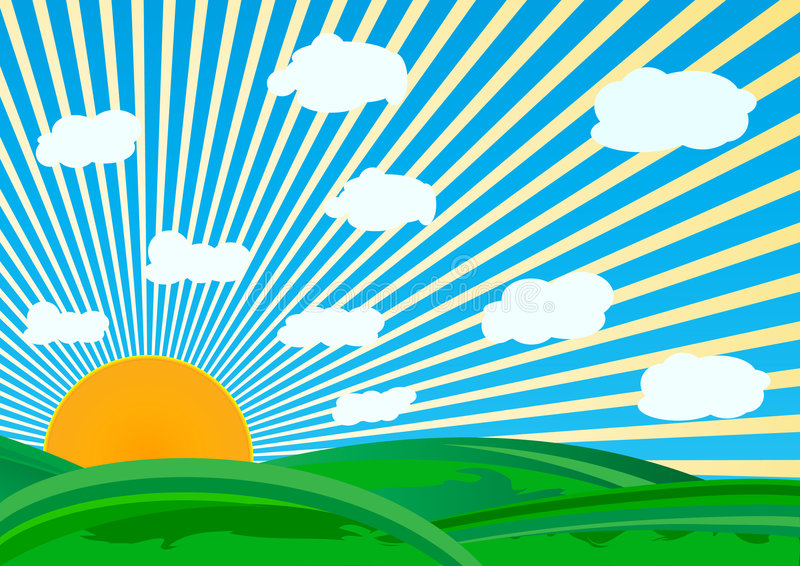 日晴朗的向量 向量例证