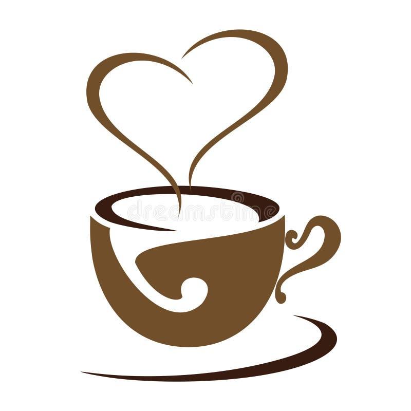 日期商标或象的咖啡 向量例证