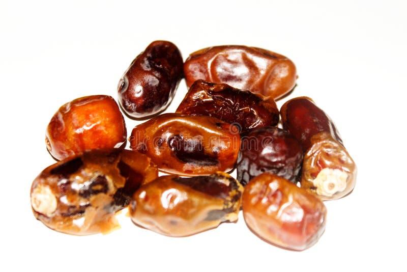 日期是从阿拉伯半岛的典型的食物 免版税库存图片