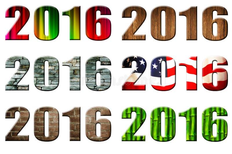 日期2016年 免版税库存图片