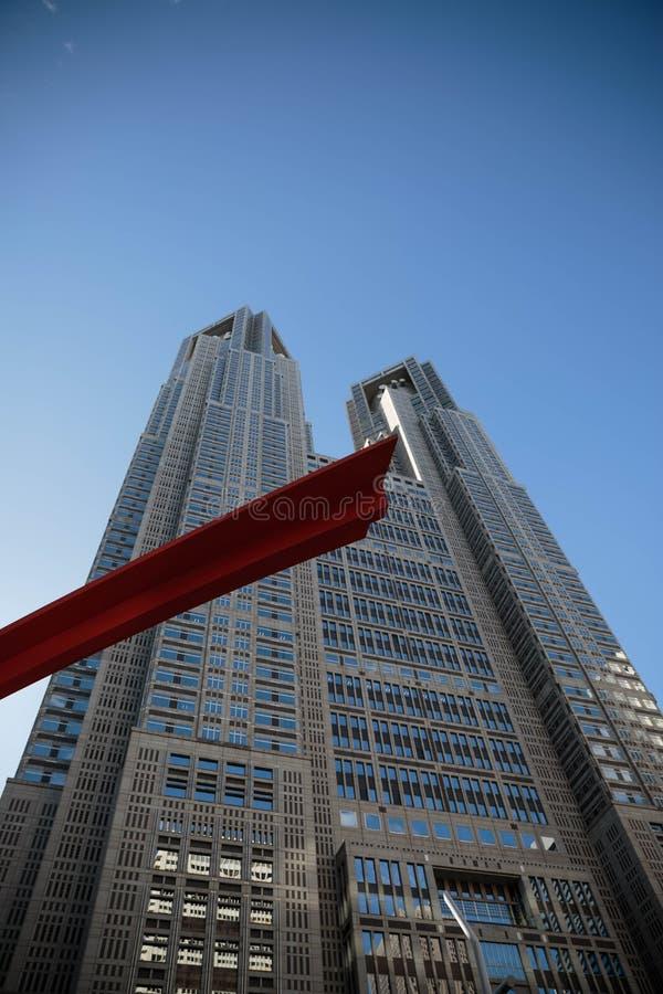 日本东京大城市政府大厦 图库摄影