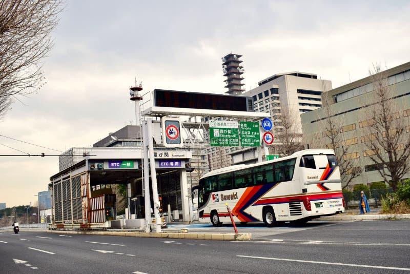 日本东京的街景画 免版税库存图片