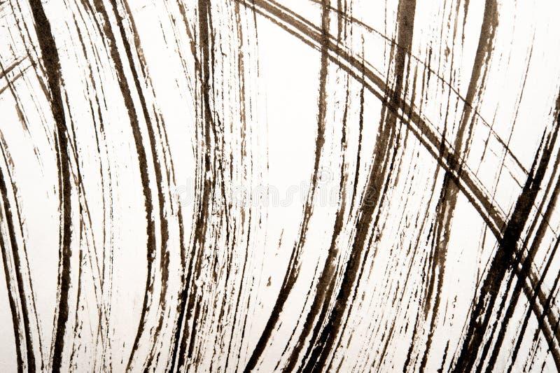 日本书法和白色浪花纹理  库存图片
