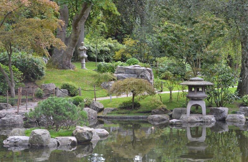 日本人京都庭院荷兰公园伦敦 库存图片