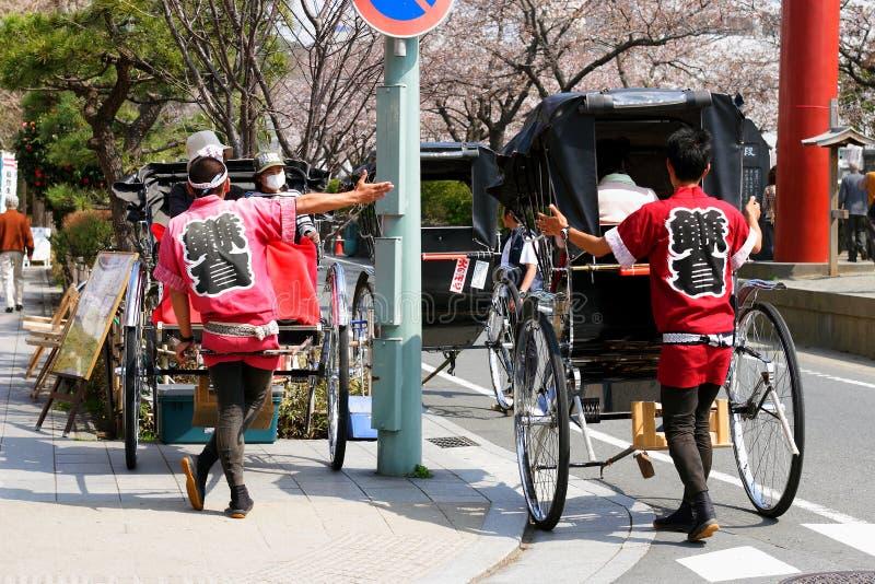 日本人力车 免版税库存照片