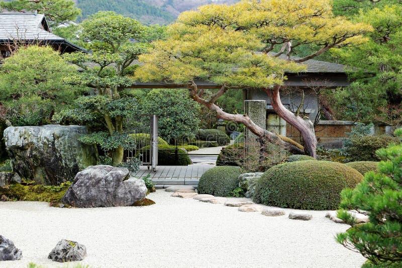 日本人和禅宗入口 库存图片