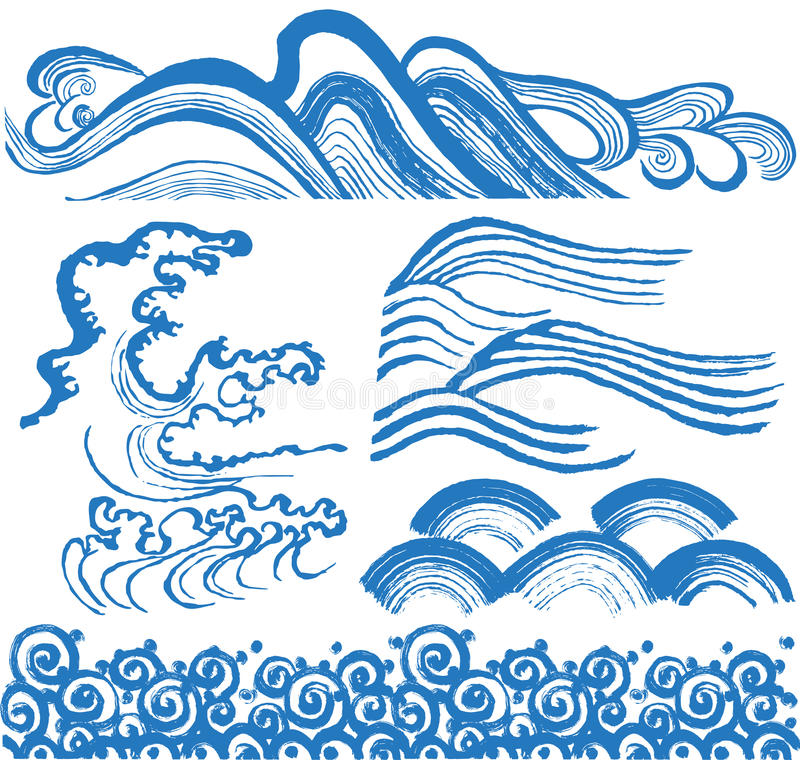 日本人波浪 皇族释放例证
