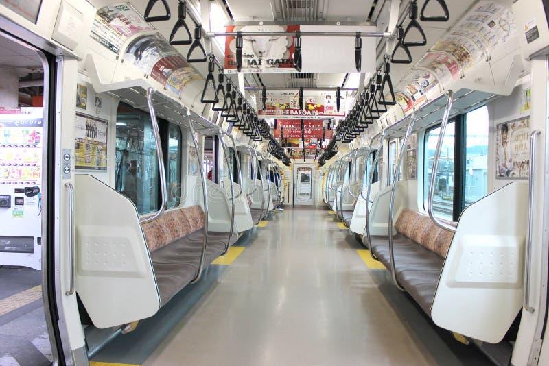 日本人火车的里面 库存图片