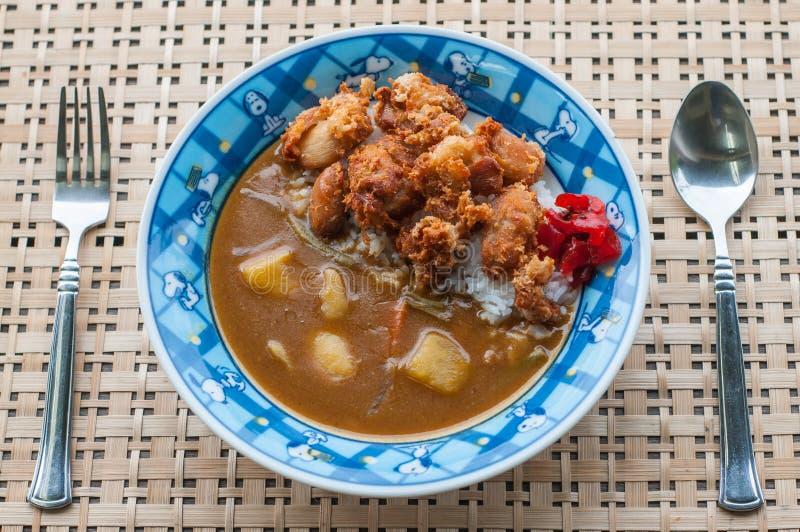 Download 日本人的炸鸡咖喱 库存图片. 图片 包括有 牌照, 咖喱, 礼服, 日语, 食物, 本质, 正餐, 东方 - 59109071