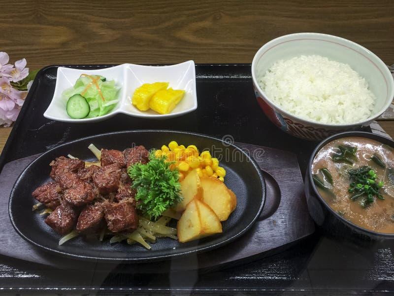 日本人集合菜单 库存照片