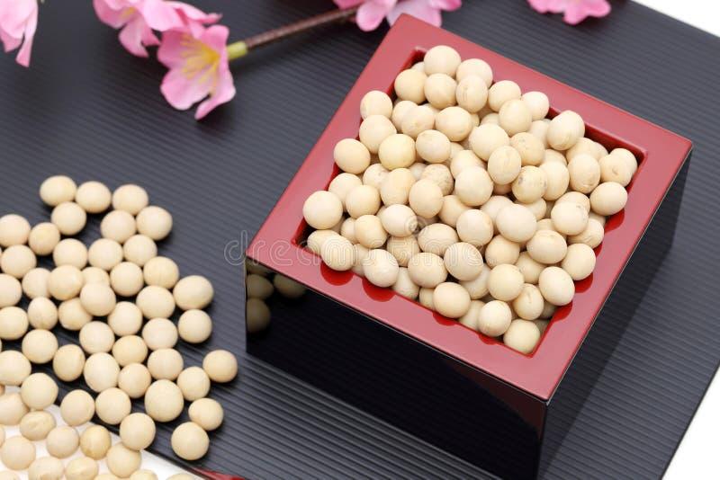 日本传统事件,大豆 免版税库存图片