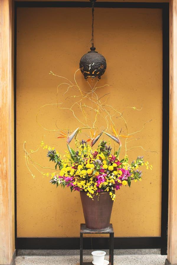 日本传统插花 库存图片