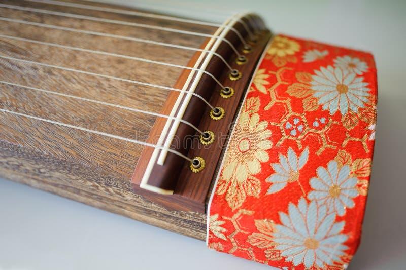 日本十三弦琴主题 图库摄影