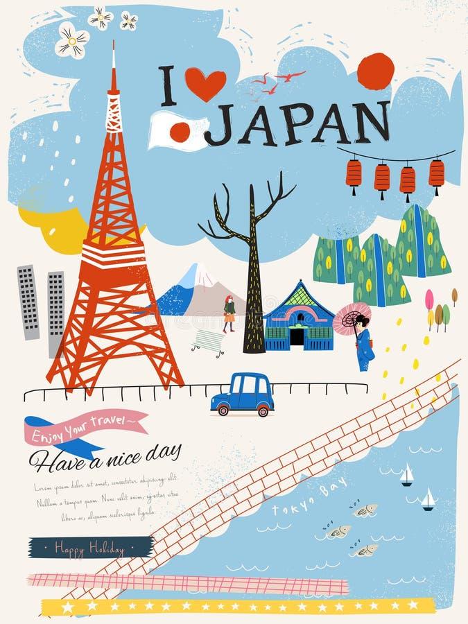 日本印象海报 向量例证