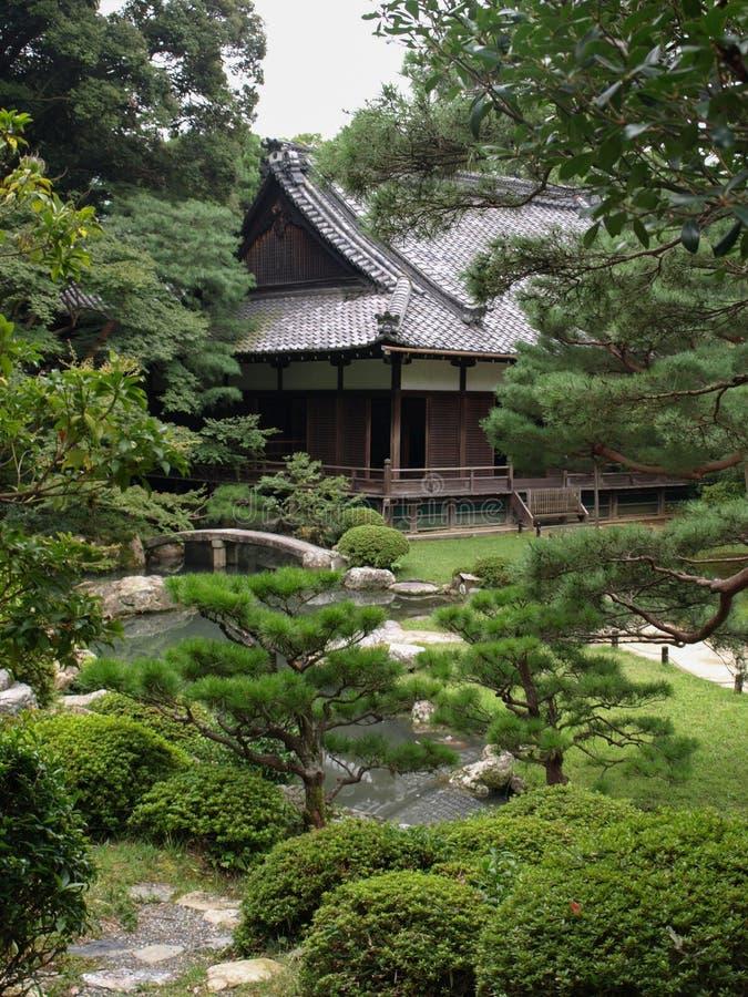日本古色古香的房子 免版税库存图片