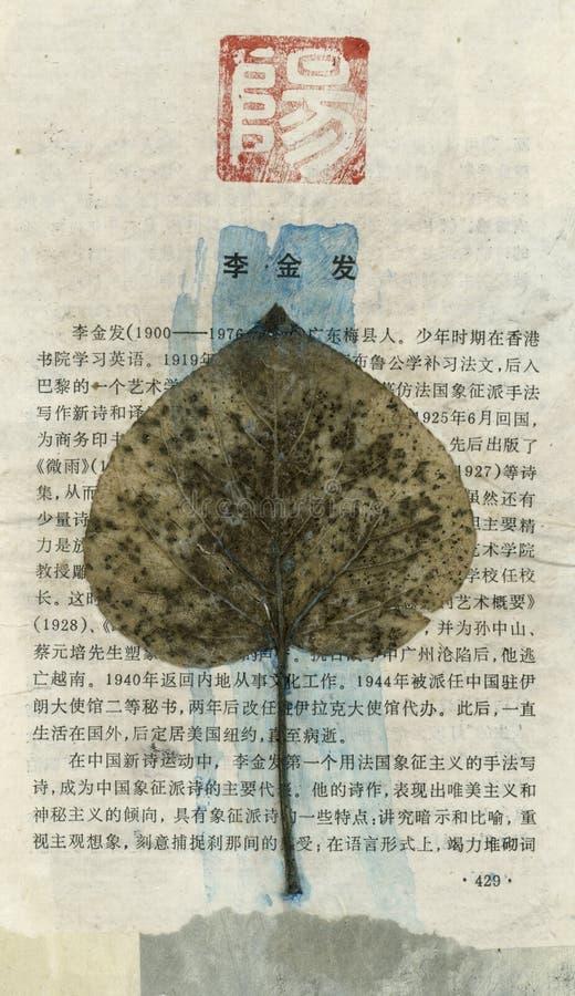 日本叶子文字 免版税库存照片