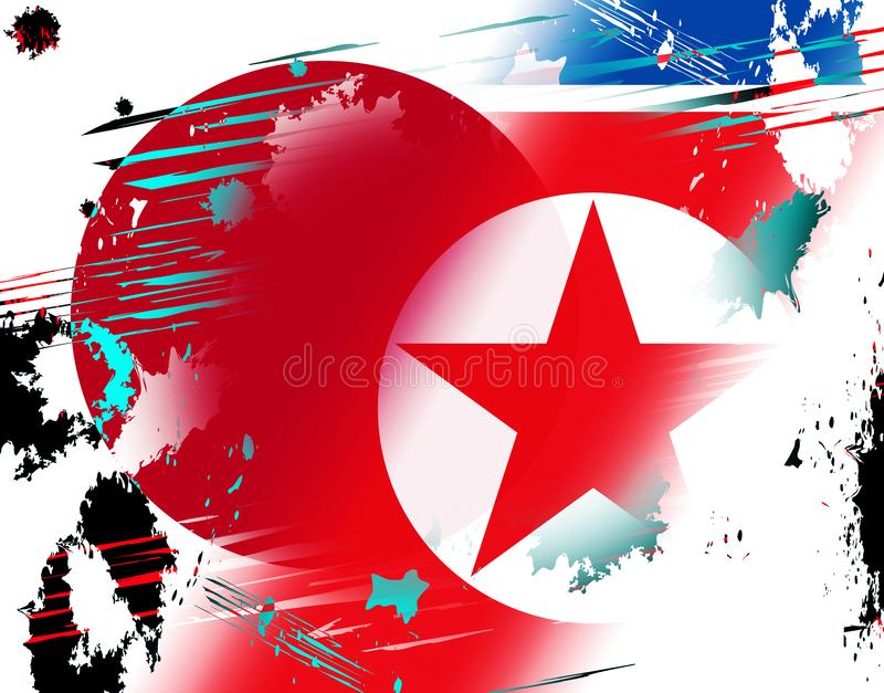日本和北朝鲜和平谈判3d例证 库存例证
