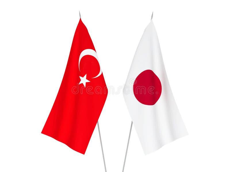 日本和土耳其旗子 皇族释放例证