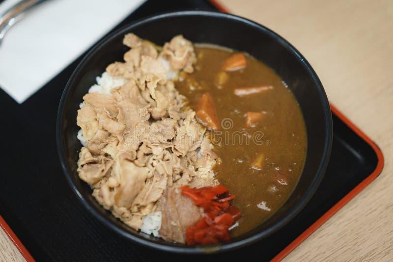 日本咖喱用猪肉 图库摄影