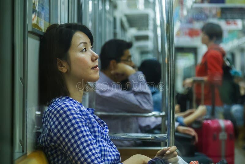 日本地铁通勤者 库存照片