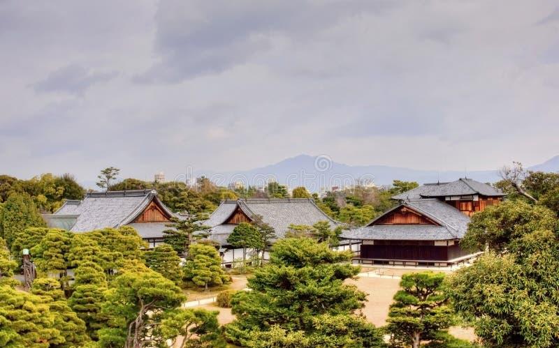 日本城堡视图 库存图片