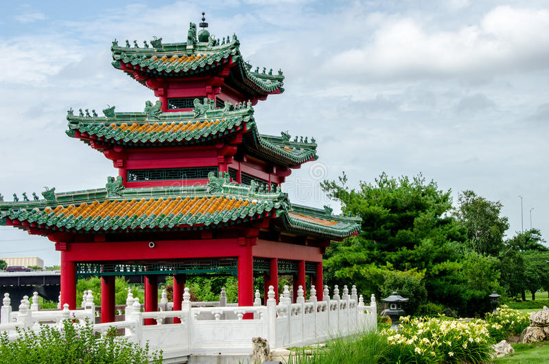日本塔禅宗庭院 免版税图库摄影