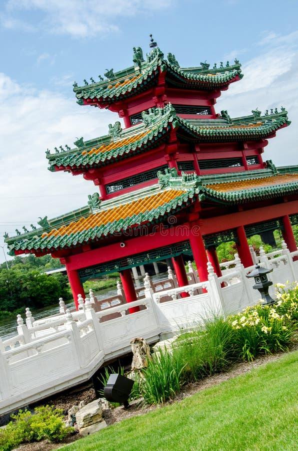 日本塔禅宗庭院 库存图片