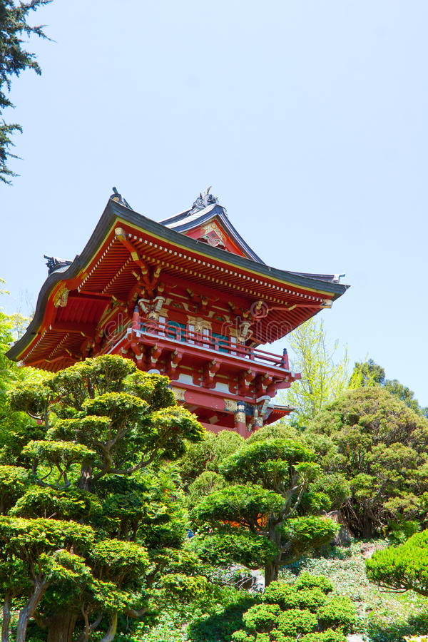 日本塔红色 免版税库存照片