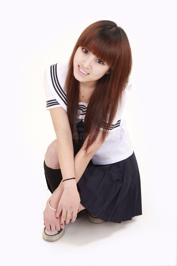 日本女小学生 库存照片
