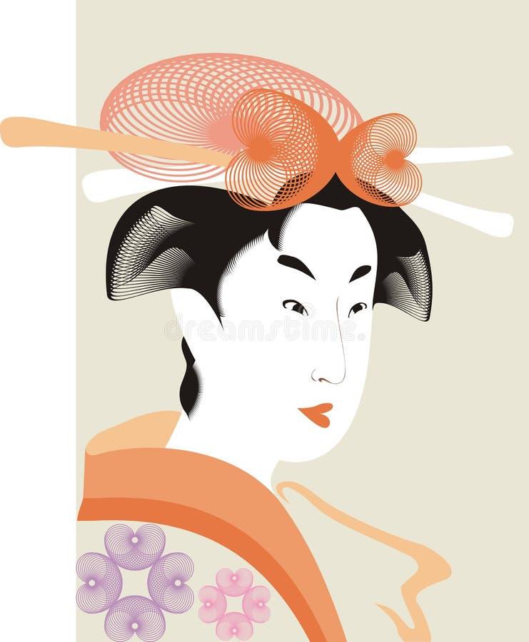 日本妇女 免版税库存照片