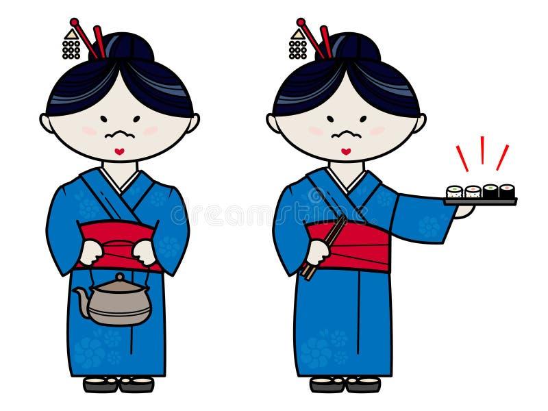 日本妇女 库存例证