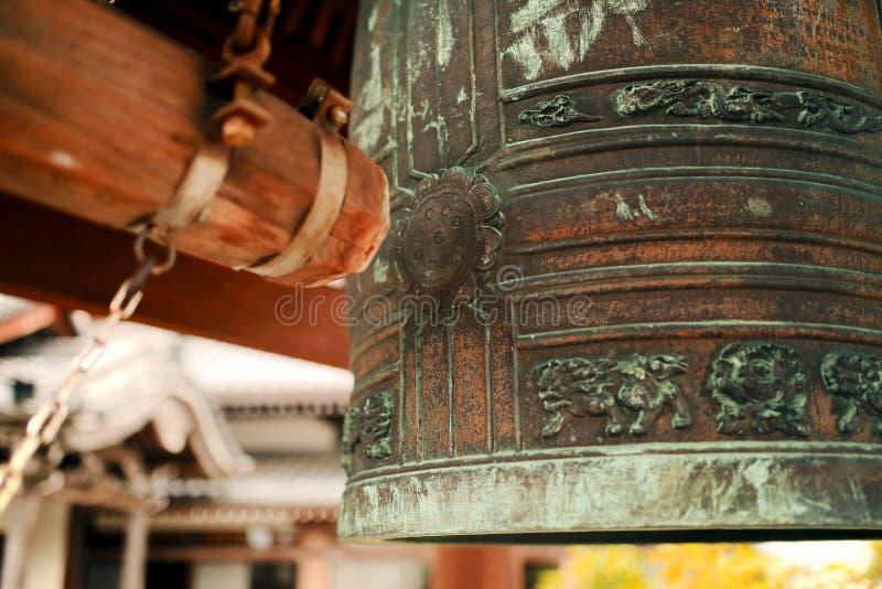 日本寺庙响铃 库存照片