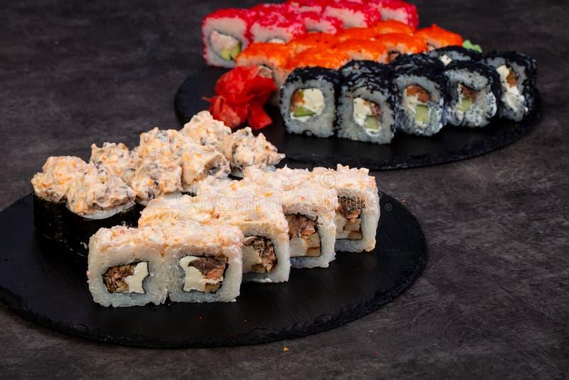日本寿司集 免版税库存图片