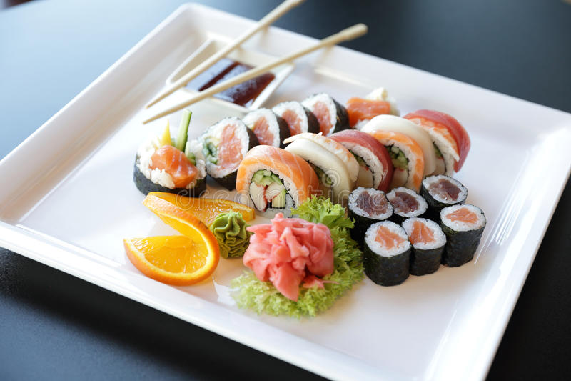 日本寿司 免版税库存图片