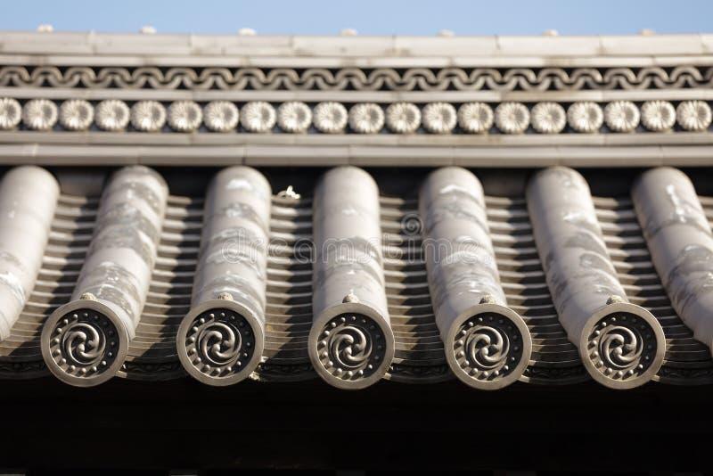日本屋顶寺庙 库存照片