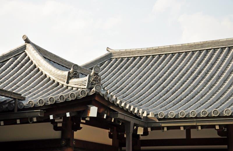 日本屋顶寺庙 库存图片