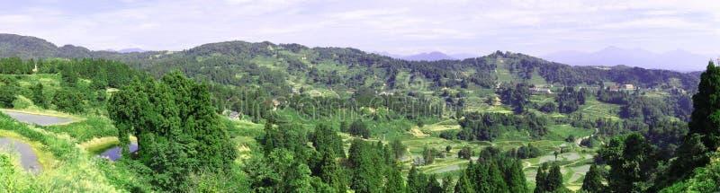 日本山全景远景 免版税图库摄影