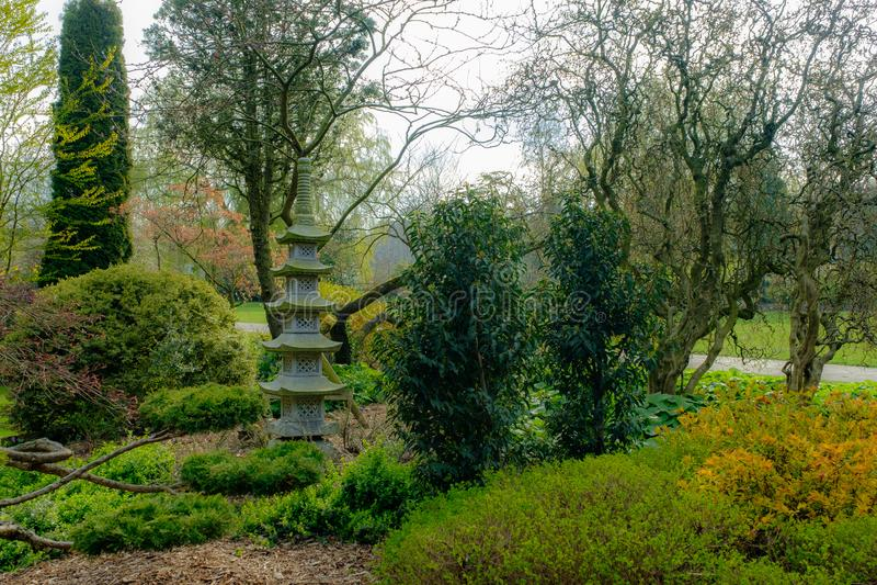 日本庭院和寺庙 图库摄影