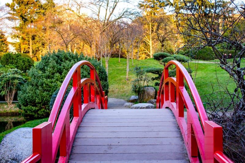 日本庭院在图卢兹,法国 库存照片