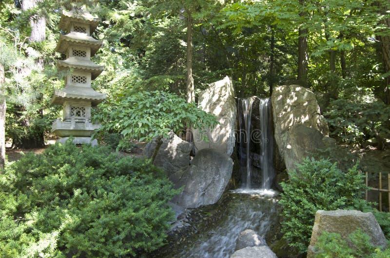 日本庭院斯波肯 库存图片
