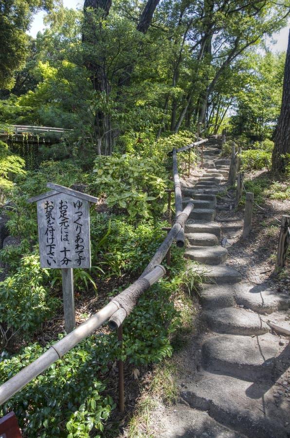 日本庭院,名古屋,日本 库存图片