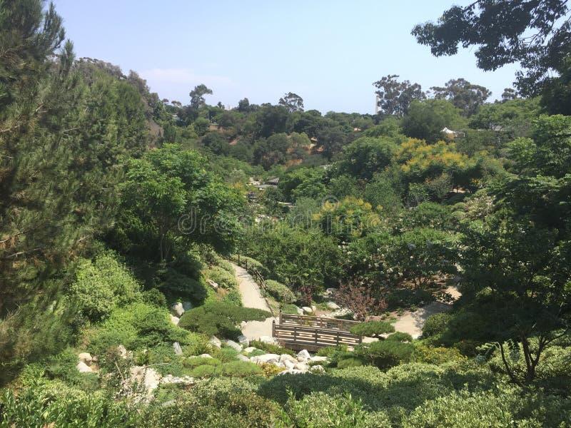 日本庭院,圣迭戈 库存照片