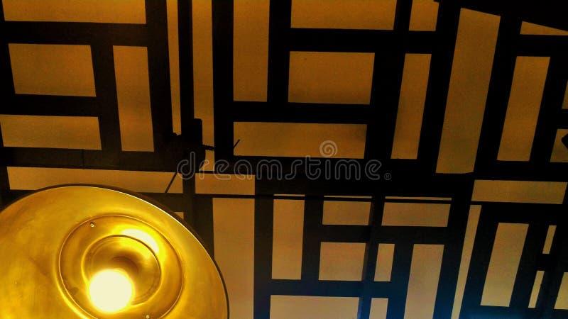 日本式天花板灯 免版税库存图片