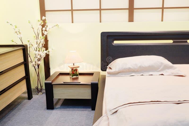 日本式的卧室 免版税库存图片